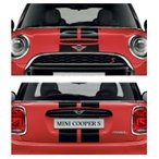 MINI スポーツ・ストライプ・エンジンフード/トランク・セット(F56/F57)(ブラック)
