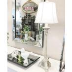 テーブルランプ(アンティーク風ベージュ) 輸入 お洒落 1灯 シャビー ロココ インテリア 海外 シェード テーブルライト 照明