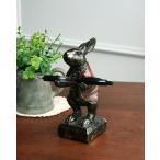 アンティーク調仕上げのウサギのペンホルダー 置物 オブジェ 収納 可愛い インテリア 兎 デザイン 輸入雑貨 便利
