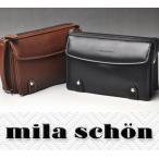 ミラショーン mila schon トレノ 牛革 セカンドバッグ 299205