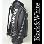 2016秋冬新作 ブラック&ホワイト Black&White ゴルフ メンズ キャディバッグ