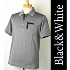 50%OFFセール! ブラック&ホワイト Black&White ゴルフ メンズ 半袖ポロシャツ