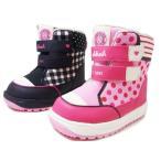 OSHKOSH OSK WC140SP オシュコシュ スパイク付きブーツ ピンク ブラック女の子 キッズブーツ 防寒ブーツ 防水ブーツ スノーブーツ