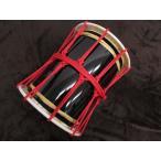 三島屋楽器店 オリジナル桶胴太鼓 1尺 (直径約30.5cm) レッド 吊りバンド+バチセット 【担ぎ桶胴太鼓 おけどうだいこ】