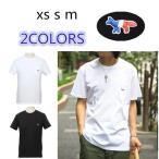 父の日 MAISON KITSUNE メゾン キツネ 半袖Tシャツ 新作 メンズ TEE SHIRT TRICOLOR FOX PATCH M704