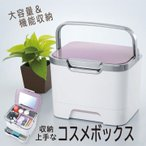 コスメボックス 化粧ボックス メイクボックス 鏡付き 日本製 大容量 おしゃれ 持ち運び