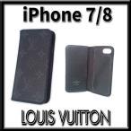 ルイヴィトン モノグラムエクリプス フォリオ iPhone アイフォン7/8ケース M62641 黒 メンズ appre6026【一撃即決】