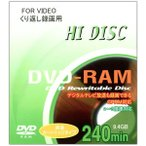 HI DISC HD DRAM240 T4 3X 1P [DVD-RAM 9.4GB 3倍速 1枚]