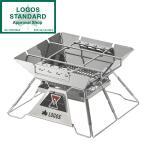 焚き火台 コンパクト 折りたたみ式 ロゴス LOGOS the ピラミッドTAKIBI M No.81064163 アウトドア キャンプ BBQ 収納バッグ付き