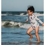 ベビー キッズ 水着 SwimZip  Palm 長袖 ラッシュガード水着セット キッズ水着 子供水着 海水浴 セパレート UVカット スイミング スイムジップ
