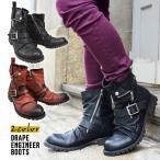 エンジニアブーツ ワークブーツ 靴 メンズ ブーツ ドレープ ブーツ ロングブーツ サイドジッパー ウエスタンブーツ ベルト シューズ 2019 冬