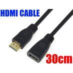 [HDMI-APS] HDMI延長ケーブル 30cm 金メッキ端子 タイプA ハイスピード 接続コード AV機器 映像 配線 ジャック オーディオ
