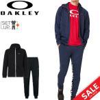 ジャージ 上下セット メンズ オークリー OAKLEY Enhance Grid Fleece Jacket Pants SET 9.7 ジャケット パンツ 上下組/スポーツウェア 黒 /472584-422635