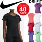 半袖 Tシャツ レディース /ナイキ NIKE /ランニング  DRI-FIOT マイラー クルー トップ  女性 ジョギング マラソン フィットネス ジム スポーツウェア/831531