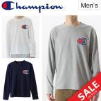Tシャツ 長袖 メンズ チャンピオン champion C VAPOR COOL トレーニング スポーツ ウェア トップス 男性 ビッグロゴ クルーネック カジュアル/C3-NS421