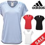 Tシャツ レディース アディダス 半袖シャツ adidas M4T カモ柄 ロングレングス Vネック フレンチスリーブ フィットネス ジム 女性 スポーツ ウェア/DML40