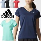 Tシャツ レディース アディダス adidas D2M 定番 ワンポイント ロゴ トレーニング 半袖シャツ ジム フィットネス オールスポーツ ウェア 女性 UV対策 無地/DML58