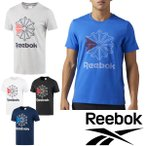Tシャツ 半袖 メンズ リーボック Reebok F GR TEE トレーニングウェア ランニング ジム 男性用 スポーツカジュアル ビッグロゴ プリントT ロゴT トップス/DTT92