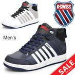 スニーカー メンズ K-SWISS ケースイス シューズ KSL08 ミッドカット 男性 カジュアル/36800080/36800085 バッシュタイプ 靴/KSL08