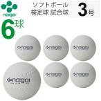 ナイガイ ソフトボール  検定球 試合球 公認球 3号 中学生以上  一般用 6個 内外 NAIGAI/【ギフト不可】