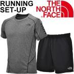 ランニング Tシャツ 半袖シャツ ハーフパンツ メンズ 2点セット THE NORTH FACE ザ・ノースフェイス トレーニング ジム 男性 スポーツウェア/NT11790-NB41785
