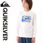 QUIKSILVER ラッシュガード(Tシャツ/キッズ) MW SPRAY SURF L/S KIDS WHT KLY161152[6015817183]