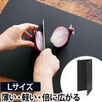 まな板 カッティングマット Lサイズ 黒 おしゃれ 折りたたみ 食洗機対応 抗菌 日本製 カッティングボード アッシュタグ h tag