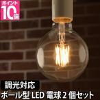 ショッピングLED LED電球 スワンバルブ ディマー2個セット ボール 調光器対応