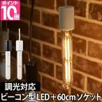 ショッピングLED LED電球 スワンバルブ ディマー60cm電気ソケットセット ビーコン