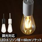 ショッピングLED LED電球 スワンバルブ ディマー60cm電気ソケットセット エジソン