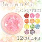 乱切りホログラム 選べる12色 ジェルネイル デコ レジンクラフト