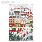 アルスターウィーバーズ コットン ティータオル(キッチンタオル) クリスマスショッピング ULSTER WEAVERS COTTON TEA TOWEL CHRISTMAS SHOPPING [5088]