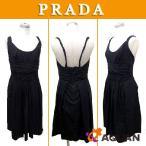 セール PRADA プラダ ワンピース キャミワンピース ブラック 黒 サイズ40