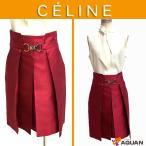 大特価セール CELINE セリーヌ スカート シルク ローズピンク レディース 表記サイズ34