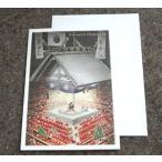 日本の風景のクリスマスカード「東京両国国技館の相撲土俵とサンタクロース」【メール便可】