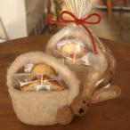 野ウサギのフェルトバッグ焼き菓子ギフト (RED)和歌山産フルーツを焼き込んだパウンドケーキとマドレーヌ【母の日・プレゼント・お祝い・お礼に】