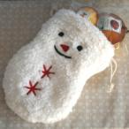 「もふもふスノーマン」和歌山産フルーツを焼き込んだ焼き菓子2個入りプチギフト in 雪だるまの巾着【ホワイトデー】