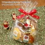 サンタとスノーマンから選べるブリキのクリスマスドールつき焼き菓子クリスマスギフトバッグ
