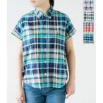 ショッピングジムフレックス Gymphlex ジムフレックス マドラスチェック半袖シャツ