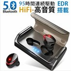 Bluetoothイヤホン ワイヤレスイヤホン Hi-Fi高音質 IPX7完全防水 自動ペアリング 95時間連続駆動 3Dステレオサウンド ブルートゥース 両耳