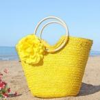 ストローバック  麦わら  ハンドバッグ 手編みバック プール 海 ビーチバッグ プール 旅行 エコバッグ 夏 送料無料