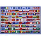 63ピース 子供向けパズル 世界の国旗大図鑑 ピクチュアパズル 26-606