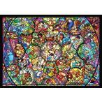 【新品】ジグソーパズル ディズニー オールスターステンドグラス【ホログラム】500ピース(35x49cm)<テンヨー>