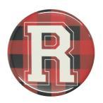 アルファベット缶バッジ-POP- 【R】 選べる5色 フックピンタイプ