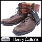 ヘンリーコットンズ Henry Cotton's 茶に焦茶コンビブーツ・イタリア製(訳あり)27.5cm S13001