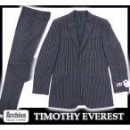 ティモシーエベレスト S27099 濃グレーダブルストライプ背抜きスーツ LL(A体)