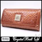 クリスタルボール Crystal Ball オレンジエナメルエフェクトシリーズ長財布(訳あり) レディース(CBK164-42)S35809
