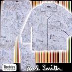 ポールスミス Paul Smith サックスブルー街並みラフイラスト柄ネイビーパイピング長袖パジャマ M身長165-175  L身長175-185 LL身長175-185 S53303-06