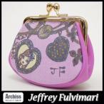 ジェフリーフルビマーリ Jeffrey Fulvimari 濃いピンクにパープルチェーンチャームガールプリントがま口小銭財布/コインケース(訳あり) レディース S52063