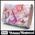 ヴィヴィアンウエストウッドVivienne Westwood ポンド紙幣プリント柄MONEY&ウォレス2オーブ付き2折財布/二つ折り/二つ折財布(訳あり) レディース S53027-32